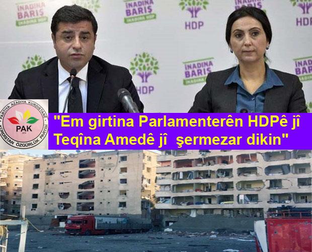 """PAK: """"Divê Kurd nehên leystikê û nebin alîyê şerî"""""""