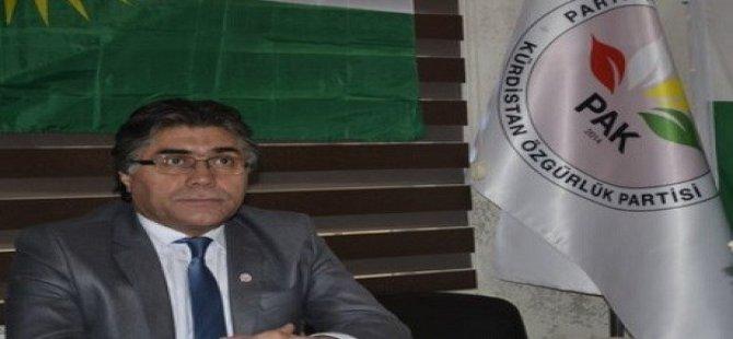 Serokê PAKê Mustafa Ozçelik ji ber girtina Demirtaş dilgiranîya xwe dîyar kir!