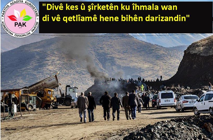 Li Xizxêrê (Şîrwan) Qetlîama Hilweşina Madenê