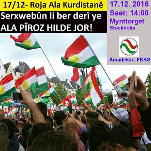 Roja alaya Kurdistanê de li Ewrûpayê xwepêşandan li dar dikevin!