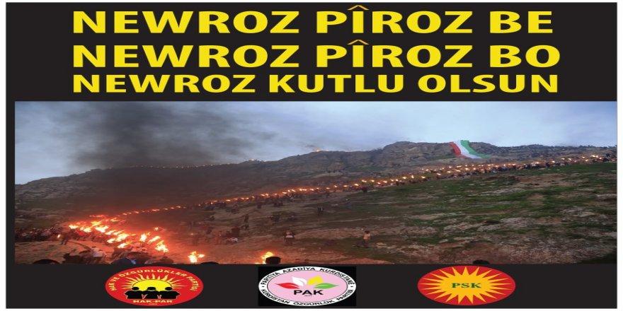 HAK-PAR, PAK, PSK: Newroza Şima Pîroz Bo