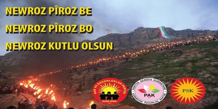 HAK-PAR, PAK, PSK: Newroza we pîroz be
