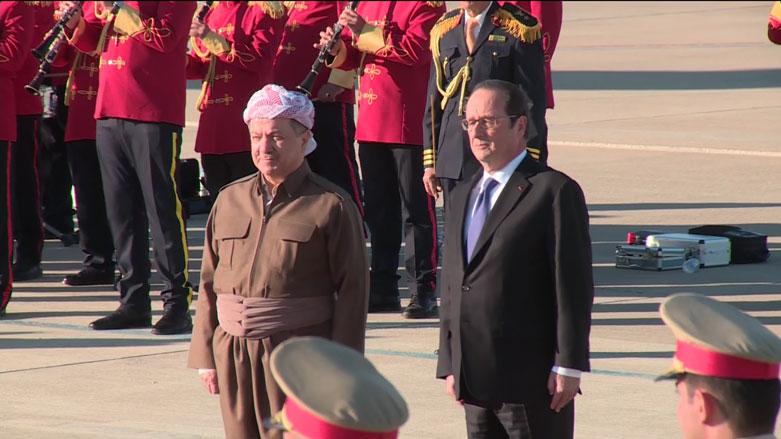 Serokkomarê Fransayê seredana Kurdistanê kir