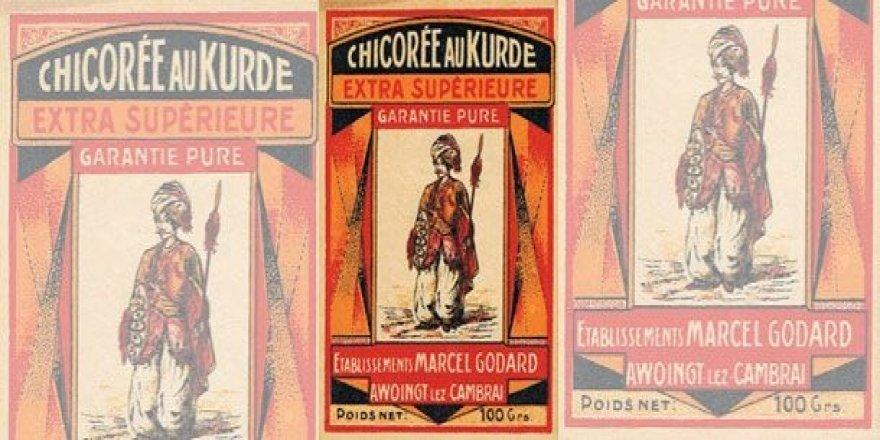 Etîketa qehweyeke ji dawîya salên 1700'î mayî: Chicorée au Kurde