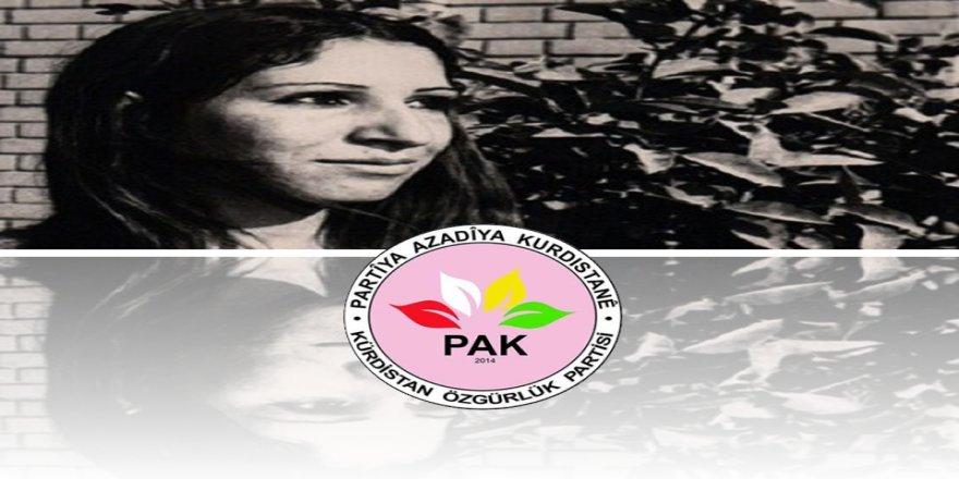 PAK: Ma Leyla Qasim bi hurmet yad kenê