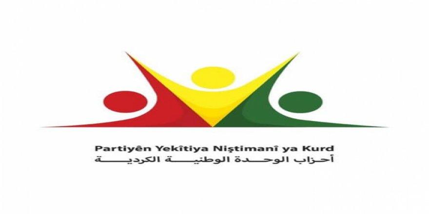 Karvedana yekîtîya 25 partîyên kurd li Rojavayê Kurdistanê