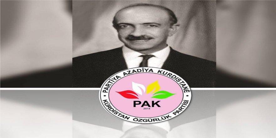 PAK: Ma Welatperwerê Kurd Faîk Bûcakî Bi Hurmet Yad Kenê