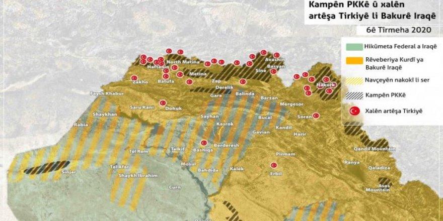 Vaye nexşeya hêzên Tirkîyê li herêma Kurdistanê!