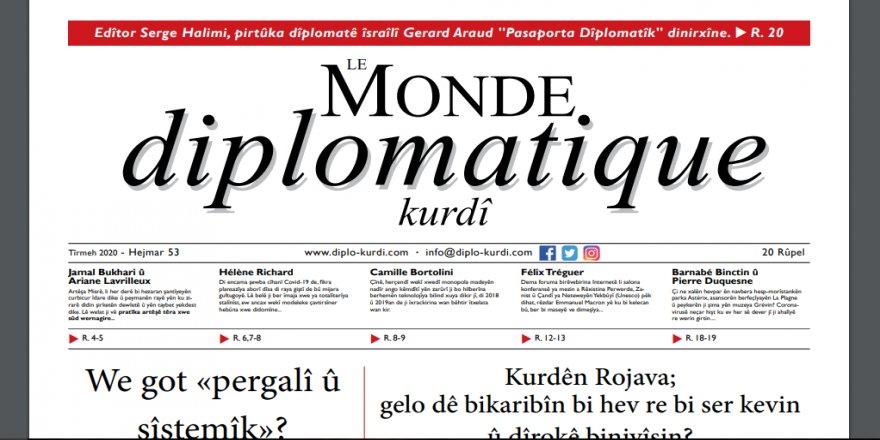 Hejmara nû ya Le Monde Diplomatique Kurdî derket.