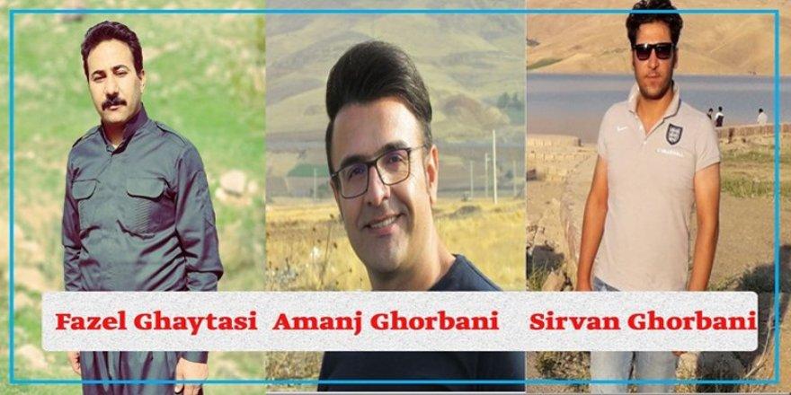 Îranê siza da 3 çalakvanên Rojhilatê Kurdistanê