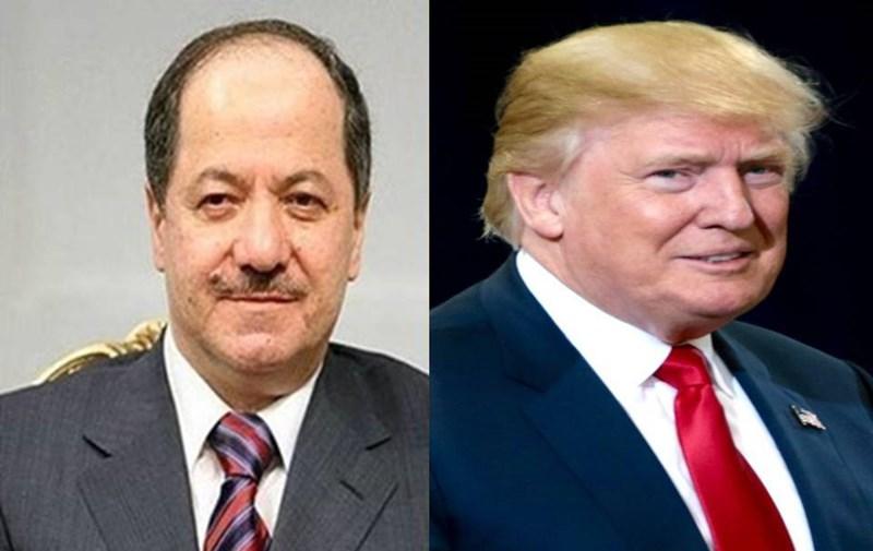 Trump bo Barzani; Ew bi hevbeşî dikarin aramî peyda bikin
