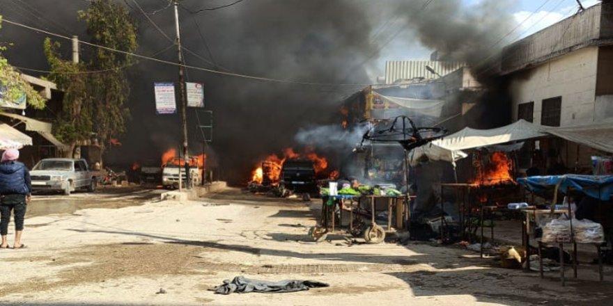 Li Efrînê bombeyeke vedayî teqiya: Jin û mêrek birîndar bûn