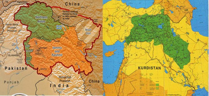 Pirsa Kaşmîrê di(na)şibe pirsa Kurdistanê!