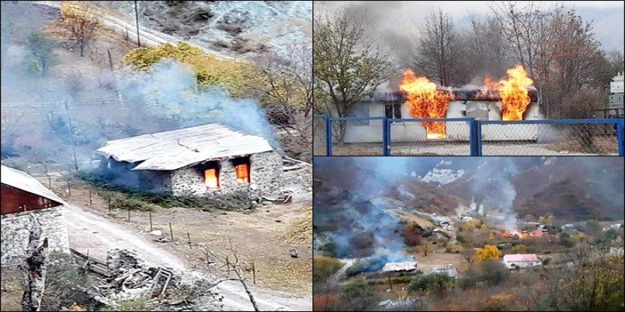 Ermenan berî ku bajarê Kelbajar ê Kurd radestî Azerbaycanê bikin şewitandin