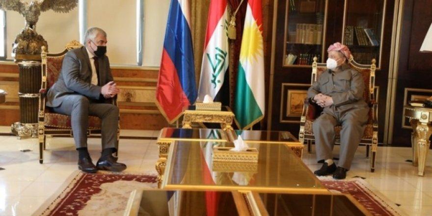 Serok Barzanî pêşwaziya Balyozê Rûsya li Iraqê kir