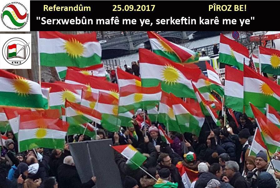 Kurdên Swêdê pêşewazîya biryara referandûmê dikin!