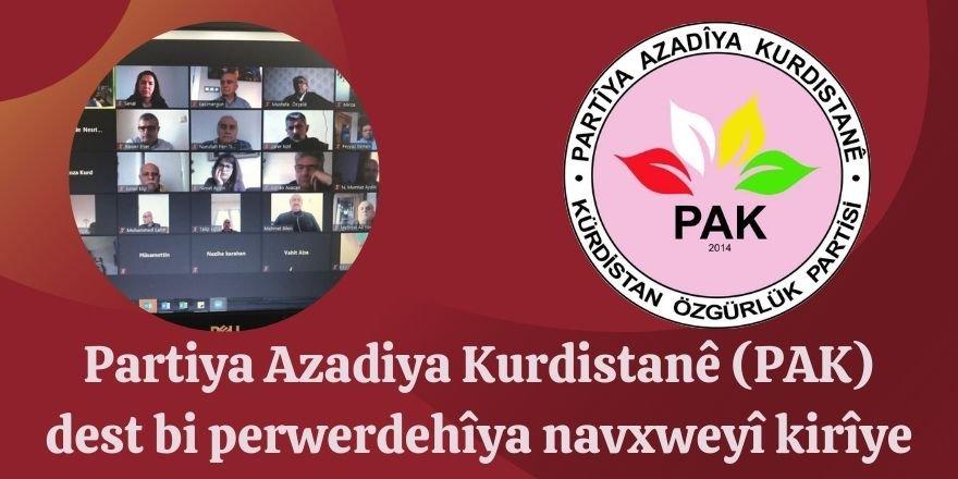Partîya Azadîya Kurdistanê (PAK) dest bi perwerdehîya navxweyî kirîye