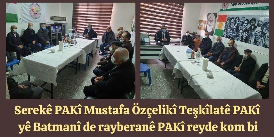 Serekê Pêroyî yê PAKî Mustafa Özçelikî Teşkîlatê PAKî yê Batmanî de rayberanê PAKî reyde kom bi