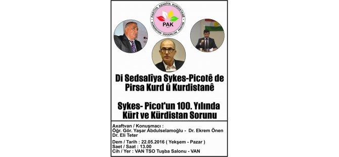 Li Wanê Konferans li ser peymana Sykes- Picot