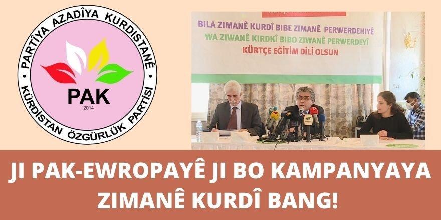 PAK-EWROPAyê ji bo Kampanyaya îmzeyan ya ji bo Ziwanê Kurdî banga piştgiriye kir