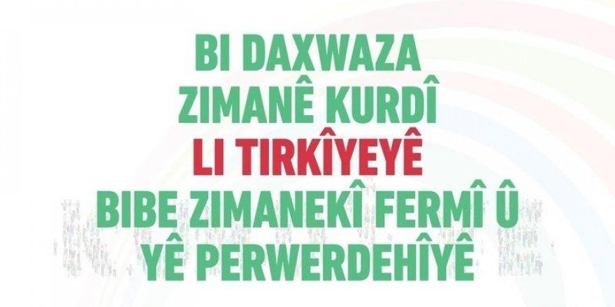 Lînka kampanya ji bo zimanê kurdî hat belavkirin