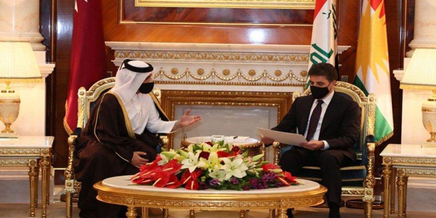 Serokwezîrê Qatarê Nêçîrvan Barzanî dawet kir bo Qatarê