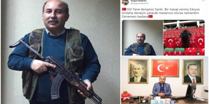 Rêveberê AKP'ê yê Amedê bi kalaşnîkofê gef xwar