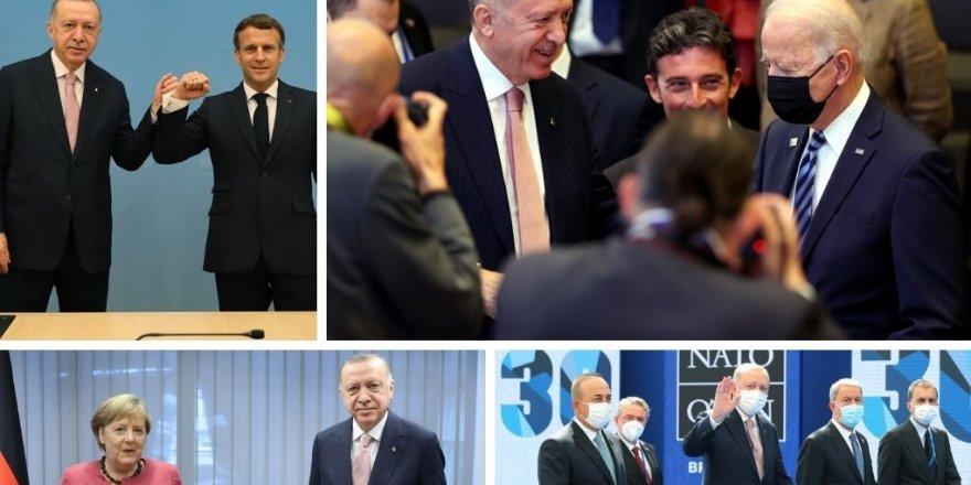 Erdogan bi Macron, Johnson û Merkelê re civiya