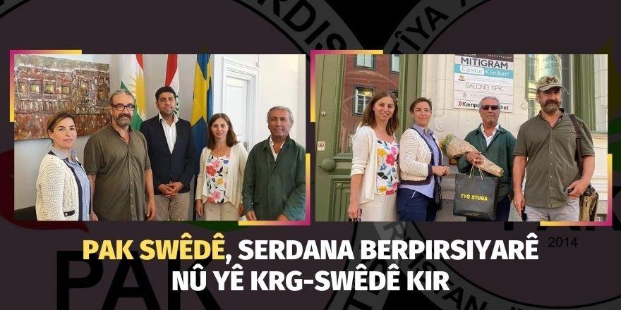 PAK Swêdê, serdana berpirsiyarê nû yê KRG-Swêdê kir.