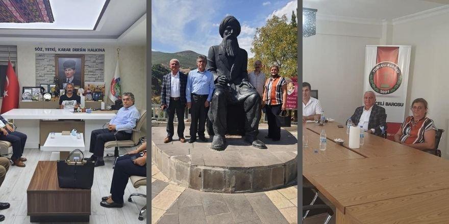 Heyeta PAKê li Dêrsimê Seredana Şaredarîyê, Dezgehên Sivîl û dostên PAKê Kir