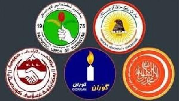 Li Herêma Kurdistanê 5 Partî dicivin