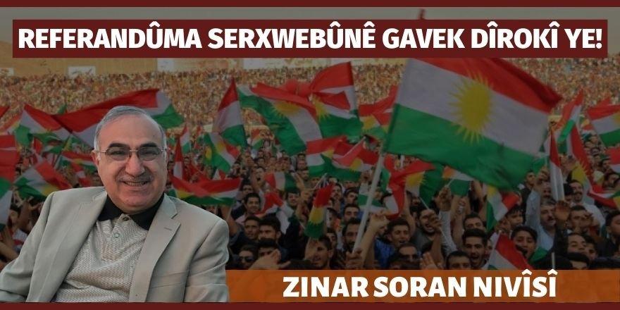 Zinar Soran: Referandûma Serxwebûnê gavek dîrokî ye!