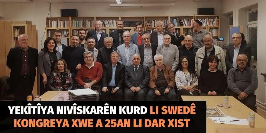 Yekîtîya Nivîskarên Kurd li Swedê kongreya xwe a 25an li dar xist
