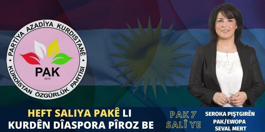 Heft Saliya PAKê Li Kurdên Dîaspora Pîroz Be
