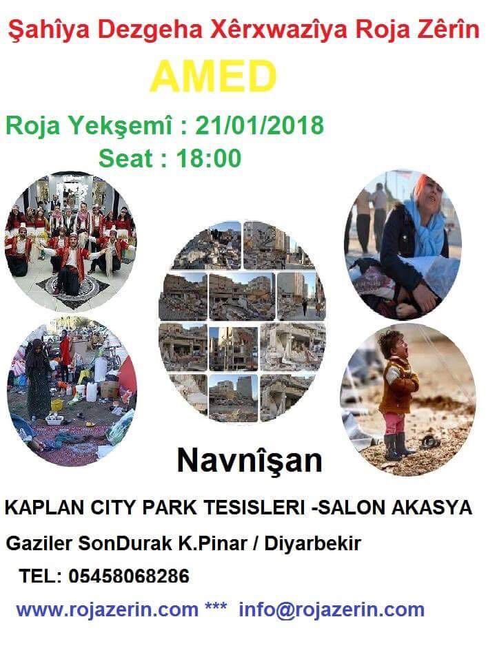 Saziya xêrxwaziyê 'Roja Zêrîn' li Amedê şahiya alîkariyê li dar dixe