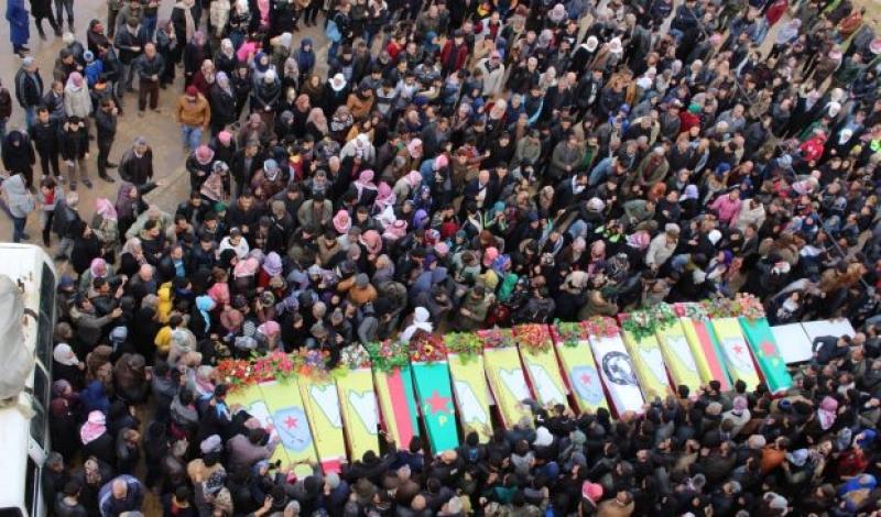 Li Efrînê 18 şehîdên din jî hatin veşartin
