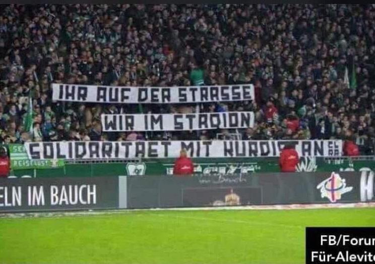 Ji tîma futbolê ya Elman Werder Bremen piştgiriya Efrînê