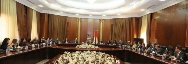 Serok Barzani, digel PDKê li Parlamentoyê civiya