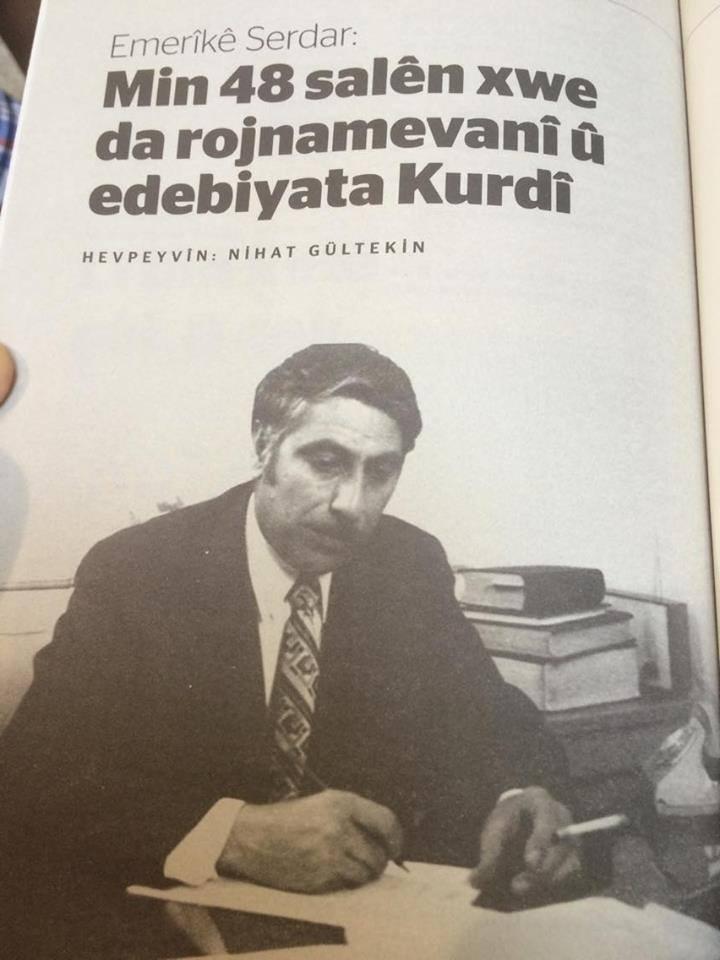 Nivîskarê kurd Emerîkê Serdar koça dawî kir