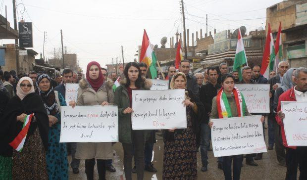 Biryar e îro li Başûrê Kurdistanê ji bo berxwedana Efrînê xwepêşandan pêkbên.