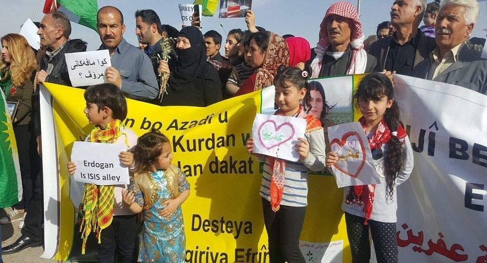 Li seransera Başûrê Kurdistanê bo Efrînê xwepêşandan