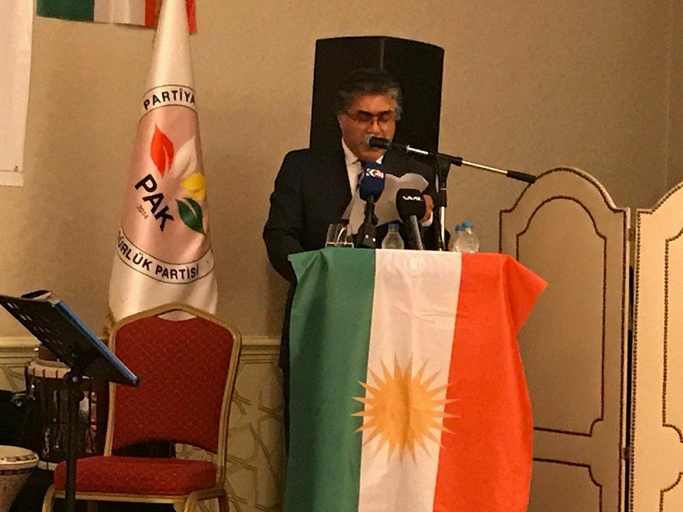Serokê PAKê Mustafa Özçelik di Newrozê de axivî