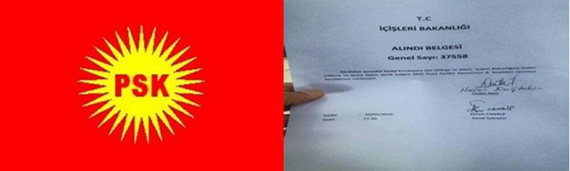 PSK li Tirkiyê wek partiyek fermî hat qebûlkirin