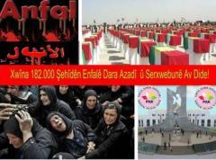 PAK: Ji bo şehîdên Enfalê mizginîya herî mezin serxwebûna Başûrê Kurdistanê ye