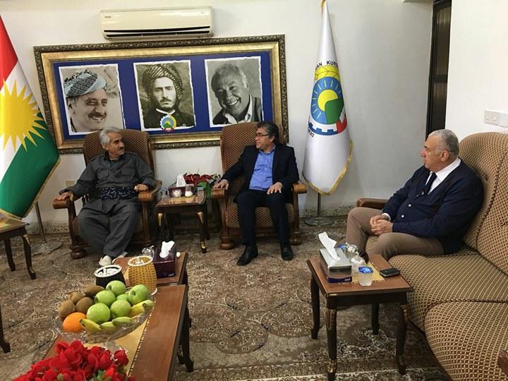 Serokê Giştî yê PAKê Mustafa Özçelik Seredana Serokê Giştî yê PDK-İranê Mistefa Hîcrî Kir.