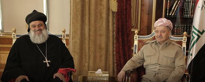 """Barzanî: """"Qedera kurdan, mesîhiyan û gelên din yên Kurdistanê yek e"""""""
