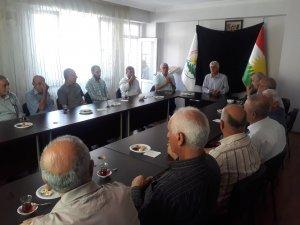 5 partiyên Kurdistanî şîna şehîdên Rojhilatî danîn