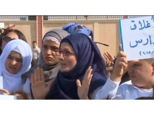 UNICEFê bûrsa xwendekarên Rojavayê Kurdistanê birriye, xwendevan nerazîbûn nîşan dan
