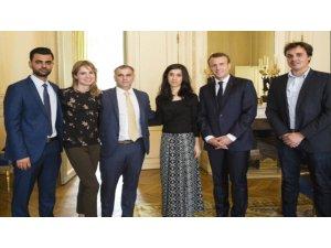 Emmanuel Macron pêşwaziya Nadya Murad kir