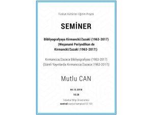 Semîner: Bîblîyografyaya Kirmanckî/Zazakî) (1963-2017)